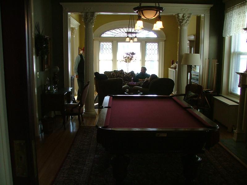 pool table (main floor)
