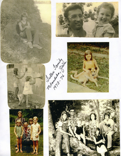 Page from album of photos made in Zaire.
