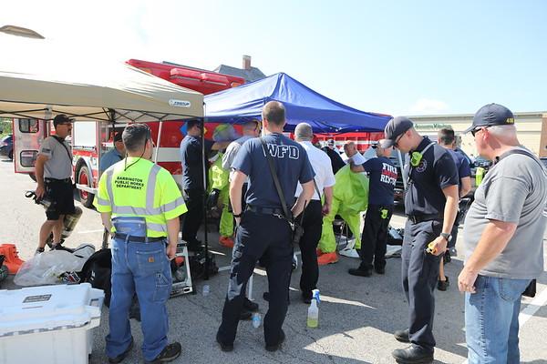 Barrington Fire Department 3rd Alarm Hazardous Materials Chlorine Leak At Pumping Station