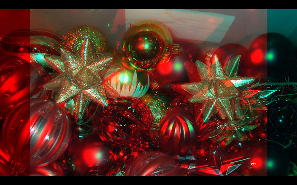 Christmas Objects in anaglyph stereo