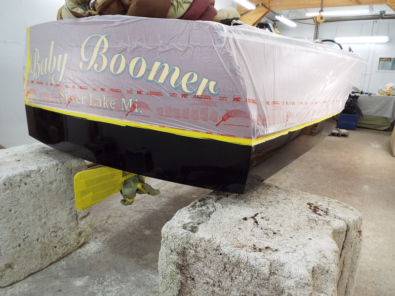 Transom painted. All the finish and assembly work completed on 5/2/2019.