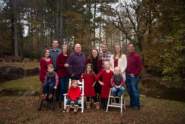 Family Christmas portraits