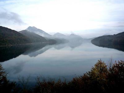 Fuschlsee, Austria -October 2009