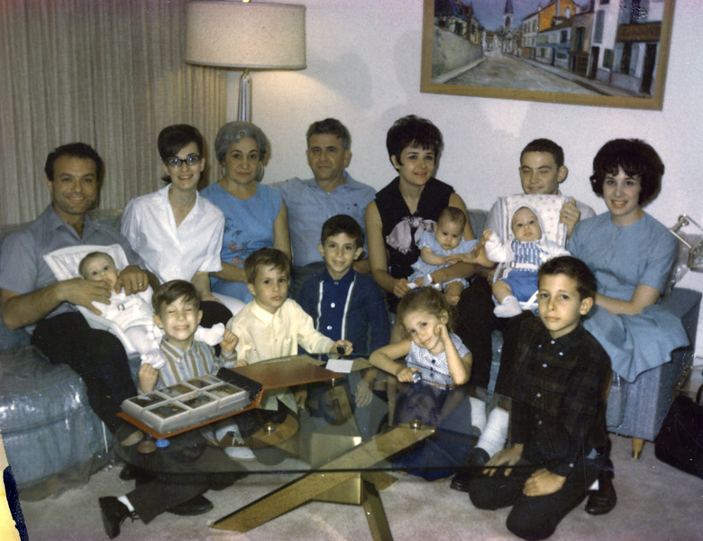 1966 028a Entire Family with Triplets.jpg
