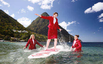 06/03/09 - Virgin Holidays celebrates International Women's Day in St Lucia