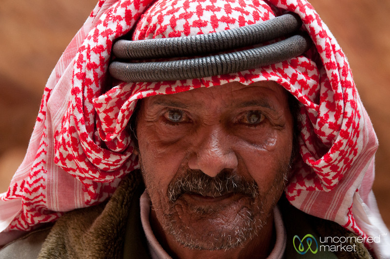 Old Bedouin Man at Petra - Jordan