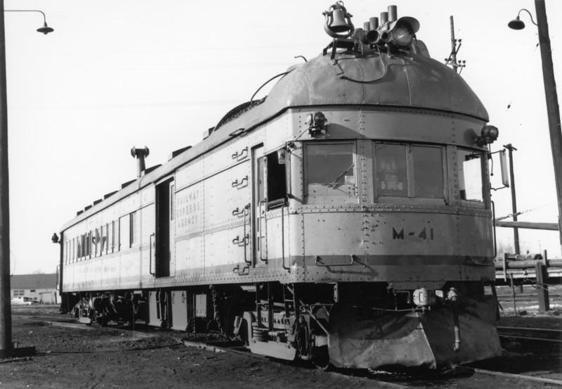 UP Brill Car M-41. Kearney, Nebraska. December 31, 1955.
