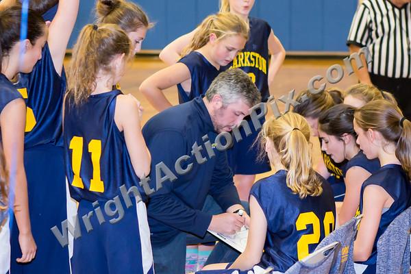 2018 11 01 Sashabaw Middle School 7th Grade Girls Blue vs Gold Basketball