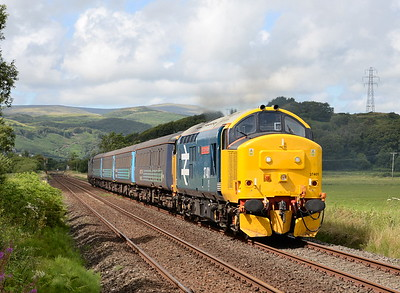 Class 37s on the Cumbrian Coast - May, June, July and August 2015
