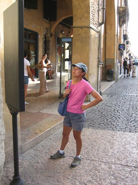 8_4 38 Verona Dorothy studying Italian sign.JPG