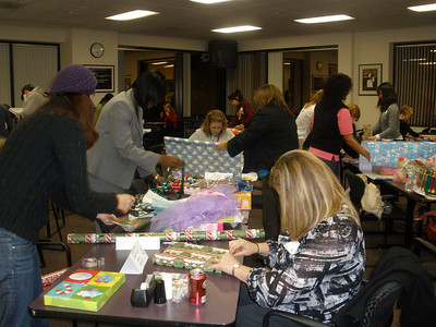 FY10 Adopt A Family Gift Wrapping Social 12/09