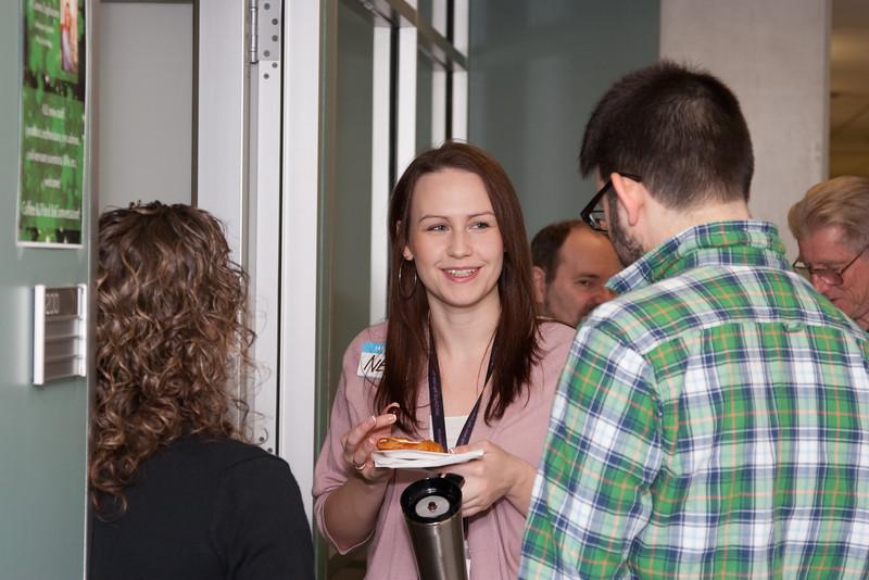 Cathy Bailey, Tea Temim, Maurice Leutenegger  -- March 2011 new staff welcome coffee, Astrophysics Science Division, NASA/ Goddard Space Flight Center