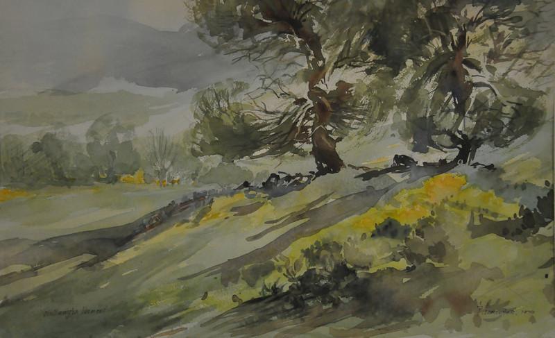 Willmington, Vt Watercolor 11X18 Ala prima, Plein aire