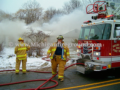 12/16/04 - Delhi Twp house fire, 2727 Pine Tree Rd