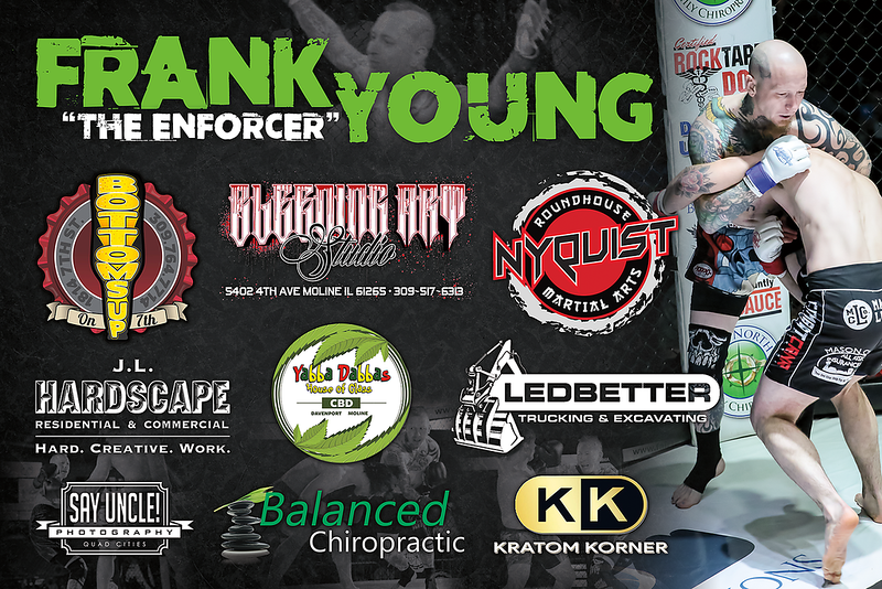 Fight Sponsorship Banner For Frank Young