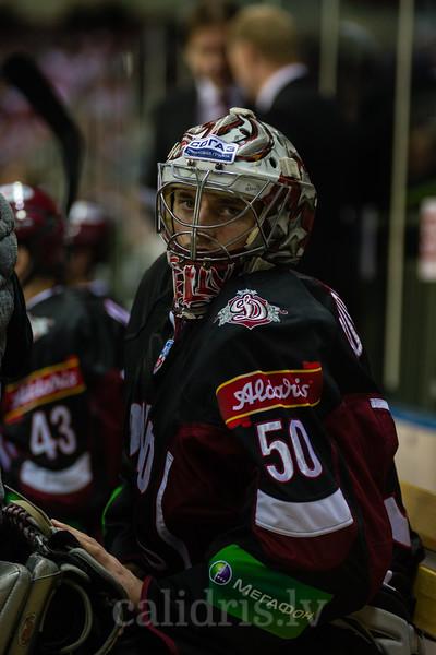 Goaltender of Dinamo Riga Kristers Gudlevskis