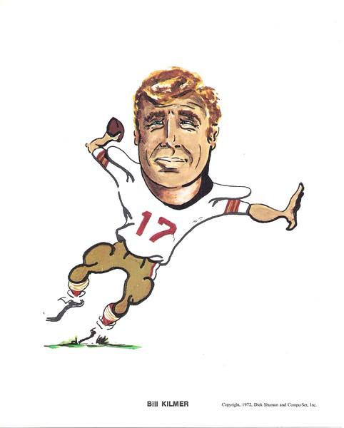 1972 Compu-Set Redskins Billy Kilmer
