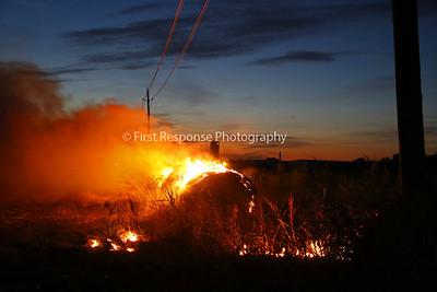 McKinney, TX. Hay roll fire with ARFF assist.