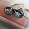 1.52ctw Antique Cushion Cut Collet Earrings 11