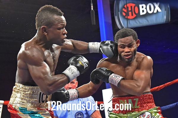 """Bout #7  Felix Diaz, Oxnard, CA (via Dominican Republic)  vs  Emmanuel """"Bukom Jah""""Lartey, Brooklyn, NY (via Ghana)  Junior Welterweights"""