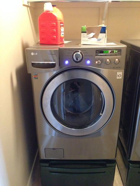 damaged washing machine