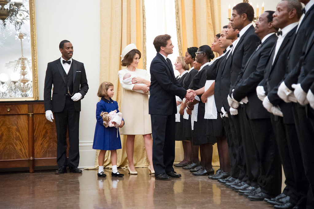 ". This film image released by The Weinstein Company shows, from second left, Chloe Barach as Caroline Kennedy, Minka Kelly as Jackie Kennedy, James Marsden as President Kennedy and Forest Whitaker as Cecil Gaines, third from right, in a scene from ""Lee Daniels\' The Butler.\"" (AP Photo/The Weinstein Company, Anne Marie Fox"