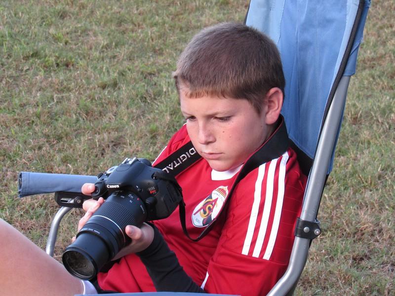 Ethan Shooting Soccer