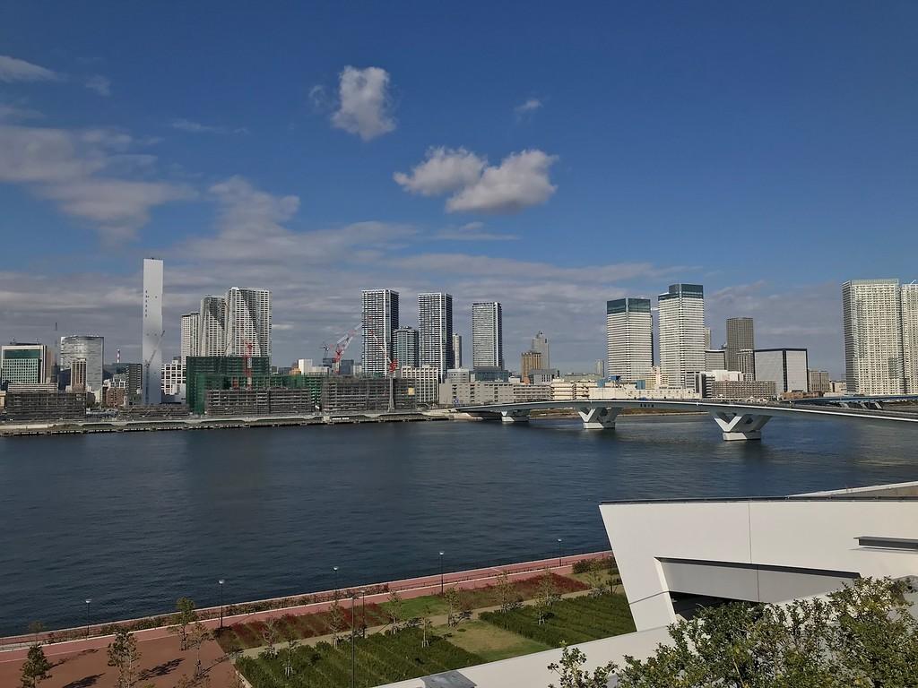 A view of Harumi Wharf.