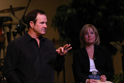 Former Texas Ranger Catcher Jim Sundberg and wife Janet visit FBC-Aledo 2/25/07
