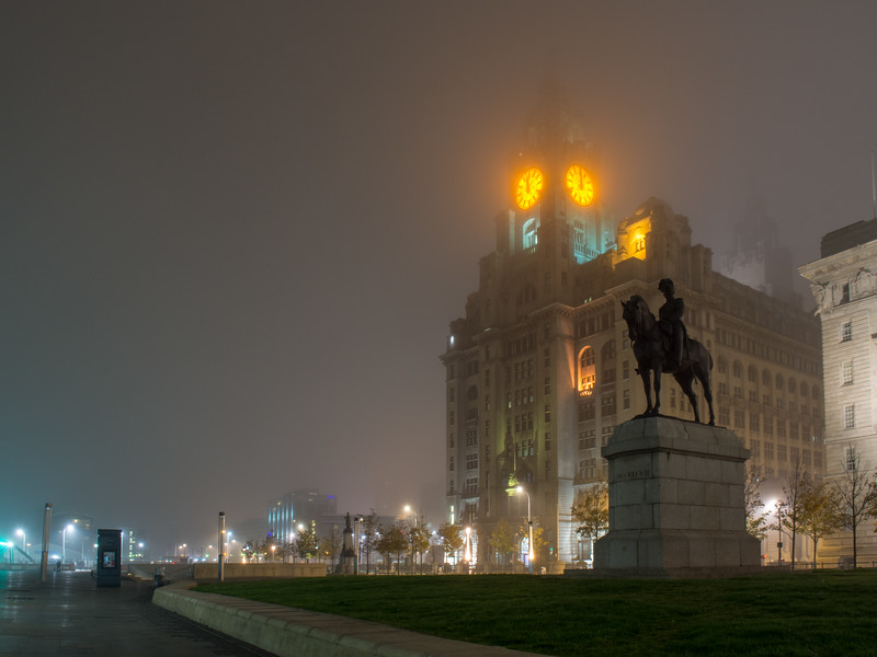 Royal Liver Building in the mist