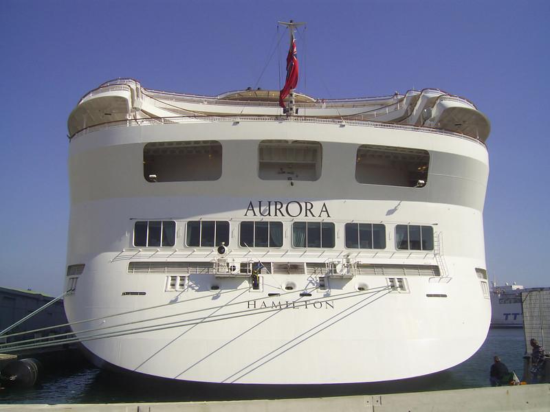 M/S AURORA : the stern.