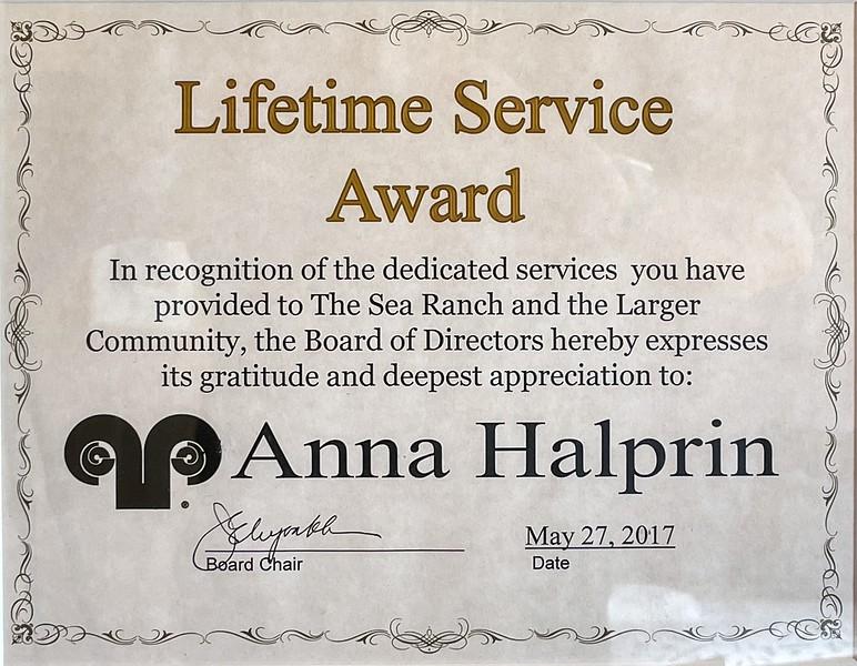 Anna Halprin Sea Ranch Award
