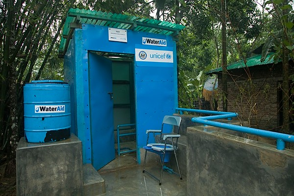 A disable friendly toilet in a remote village in Bhalokiapalang