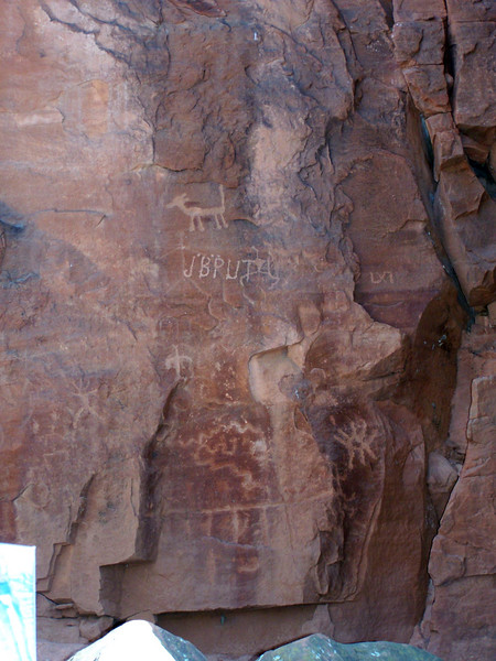 Petroglyphs at V-Bar-V Ranch
