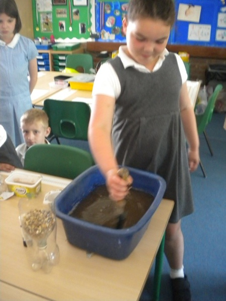 Recycling at Tannery Drift School - June 2014