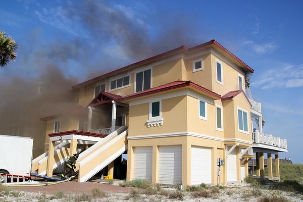 07/24/2017 Navarre Beach House Fire on Gulf Blvd.