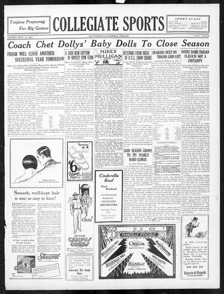 The Southern California Trojan, Vol. 16, No. 23, November 14, 1924