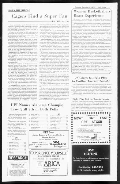 Daily Trojan, Vol. 66, No. 52, December 06, 1973
