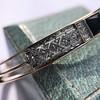 Vintage Onyx and Antique Diamond Bangle 16