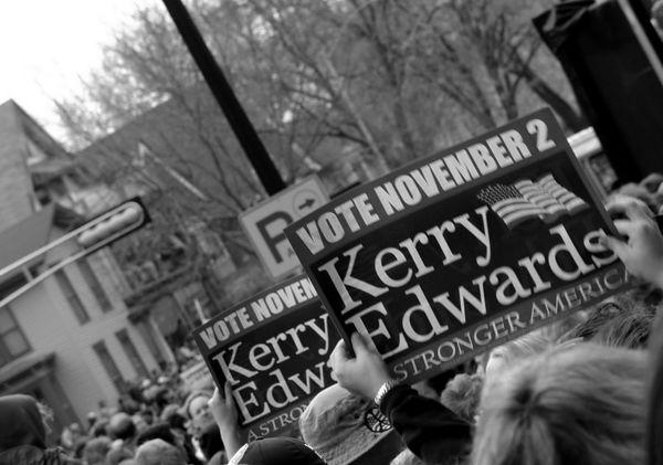 John Kerry Rally -  Madison, Wisconsin
