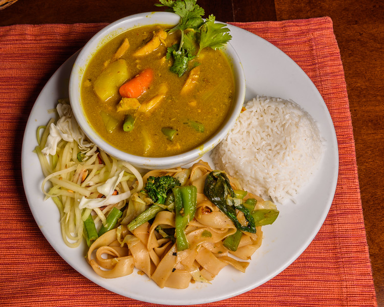 Thai Yellow Curry with Drunken Noodles