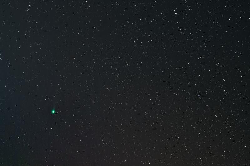 Kometa C/2014 Q2 Lovejoy, Olomouc, 26.1.2014 cca. 21.30 CET, Canon 600D, EF-S 50mm @ f/2,8, EQ2, 10x1min ISO 400