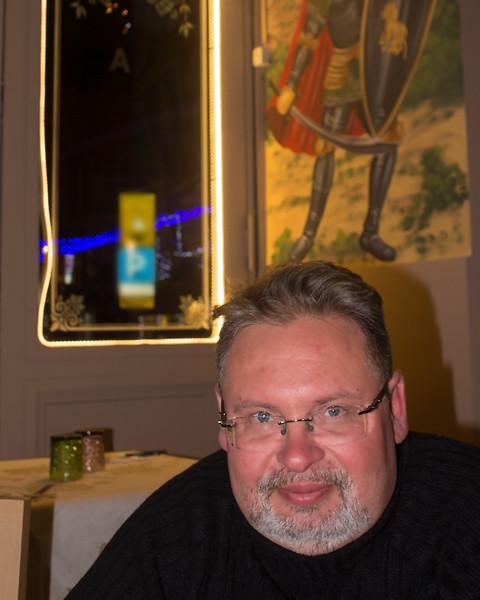 Paul in a Catania Restaurant