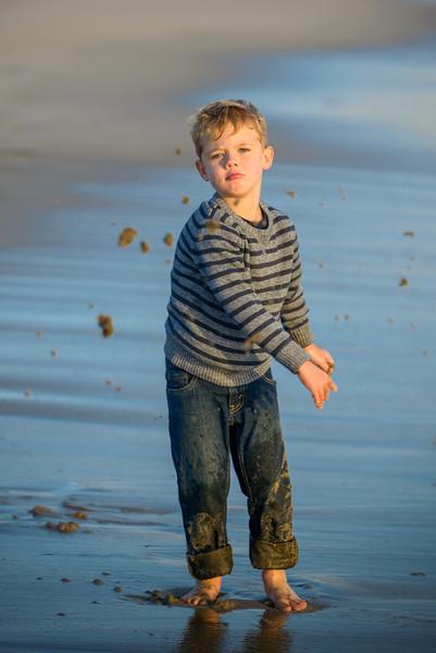 Dana + Jack = Alec (Family Photography) @ Four Mile Beach, Santa Cruz