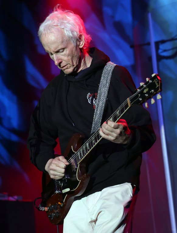 . ANAHEIM, CA - JANUARY 25:  Guitarist Robby Krieger performs at the 2014 National Association of Music Merchants show at the Anaheim Convention Center on January 25, 2014 in Anaheim, California.  (Photo by Jesse Grant/Getty Images for NAMM)