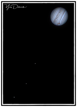 Jupiter with moons and Saturn