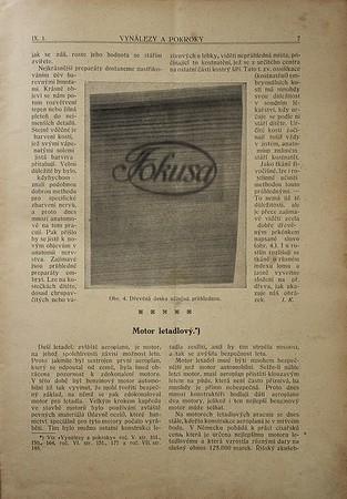 Vynálezy a pokroky 1912, číslo 1