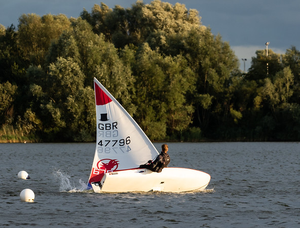 Last Wednesday evening race at Hunts Sailing Club