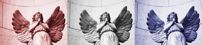 american angels, triptych