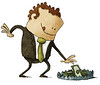 //www.dreamstime.com/stock-photography-business-trap-businessman-taking-dollars-stack-bear-image50457382